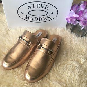 Steve Madden Shoes - New Rose Gold Steve Madden Mules